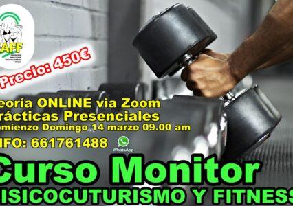 Curso de MONITOR DE FISICOCULTURISMO Y FITNESS (FAFF)